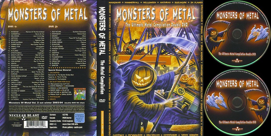 Monsters Of Metal Dvd Sir Laws Manowar Collection