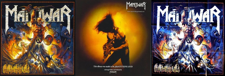 Manowar - Hell On Stage Live (Booklet & Poster)