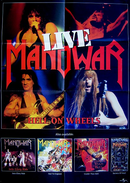 Manowar - Hell On Wheels Live (Original Promo Poster)