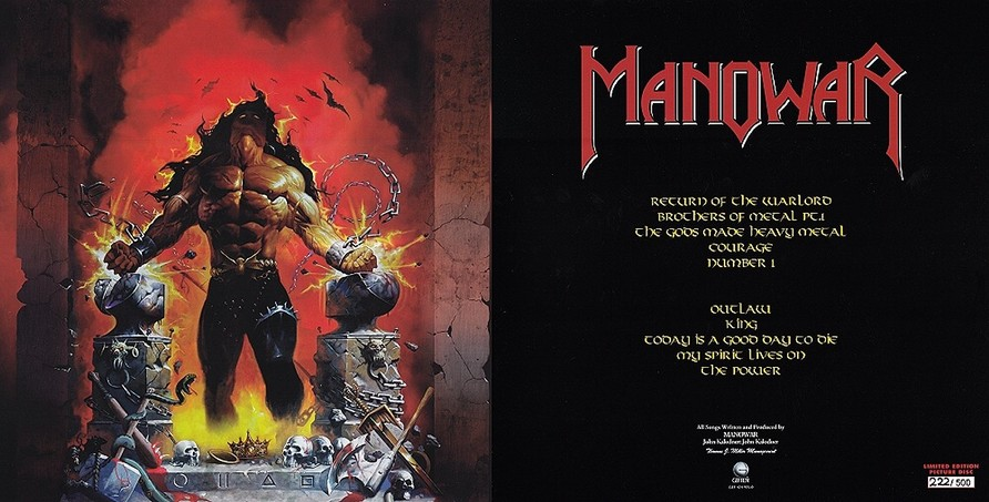 Manowar - Louder Than Hell Inlay